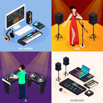 Muzikanten leven ontwerpconcept