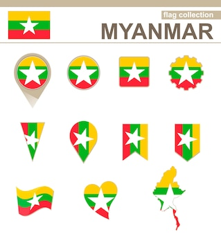Myanmar flag collection, 12 versies