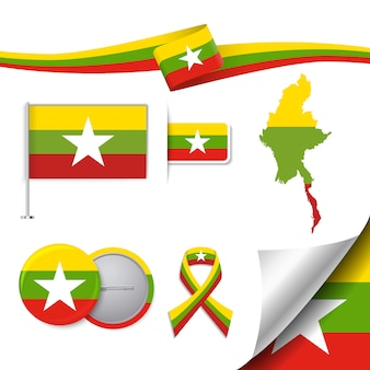Myanmar representatieve elementen collectie