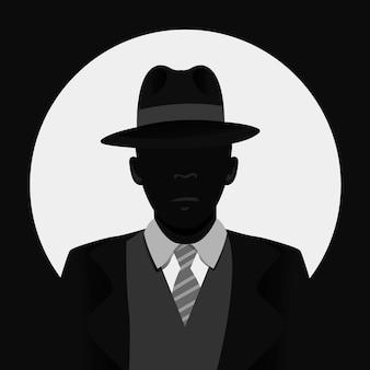 Mysterieus gangsterkarakter