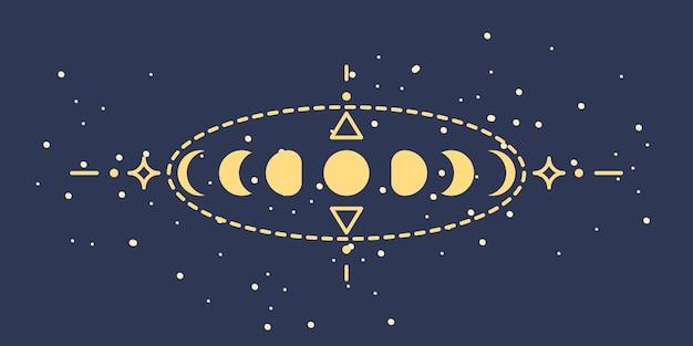 Mystieke astrologische illustratie illustratie