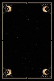 Mystieke gouden frame op zwarte achtergrond