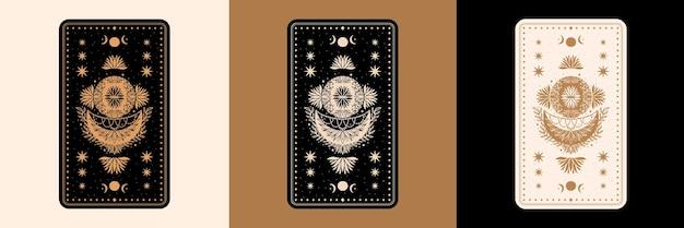 Mystieke tarot desk-kaartenset