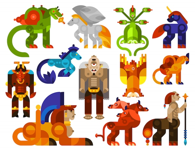 Mythische wezens iconen