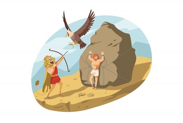 Mythologie, griekenland, olympus, heracles, religie concept.