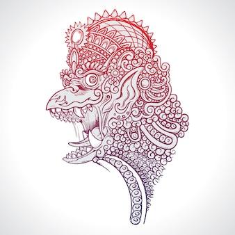 Mythologie schepsel garuda illustratie