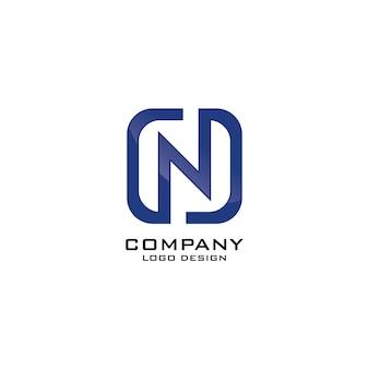 N letter business company logo ontwerp