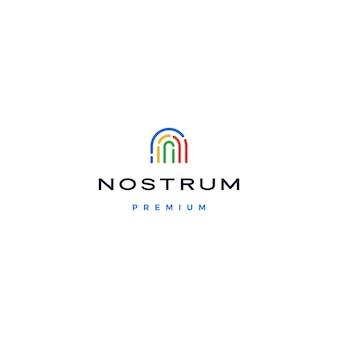 N letter eerste logo pictogram