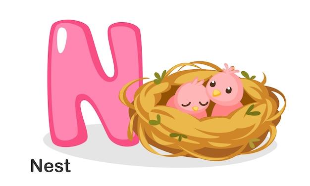 N voor nest