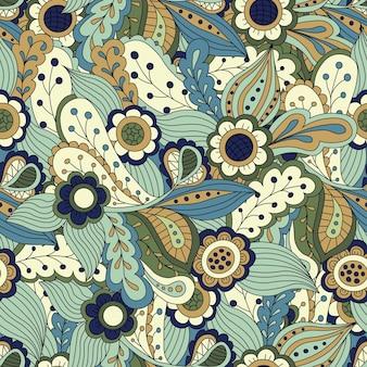 Naadloos abstract bloemenpatroon. naadloos patroon kan worden gebruikt voor behang, opvulpatronen, webpagina-achtergrond, oppervlaktestructuren. prachtige naadloze bloemenachtergrond