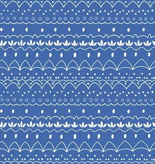 Naadloos abstract hand-drawn patroon