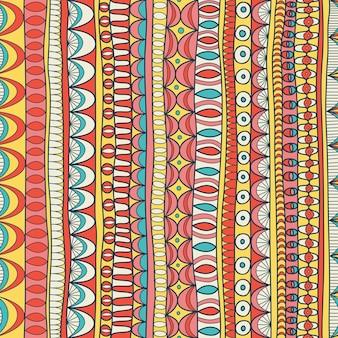 Naadloos abstract hand getrokken patroon