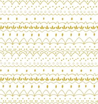 Naadloos abstract handgetekend patroon