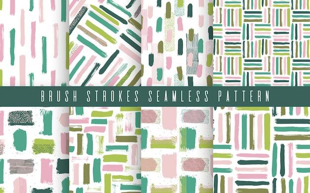 Naadloos abstract patroon dat met borstelslagen wordt geplaatst
