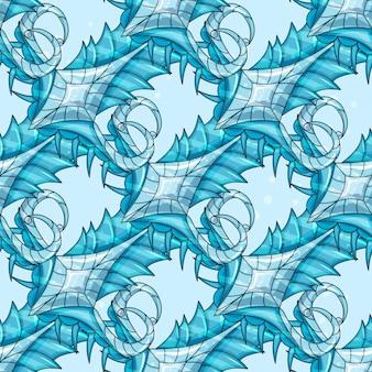 Naadloos abstract patroonijselement - vectorillustratie