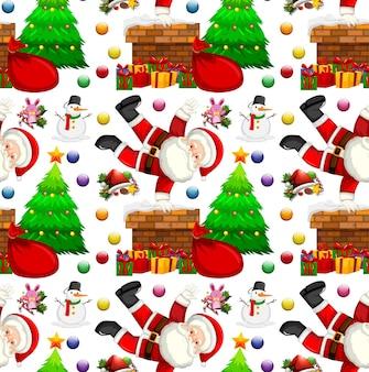 Naadloos achtergrondontwerp met kerstthema
