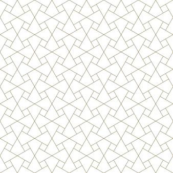 Naadloos arabisch geometrisch ornament in bruine kleur.