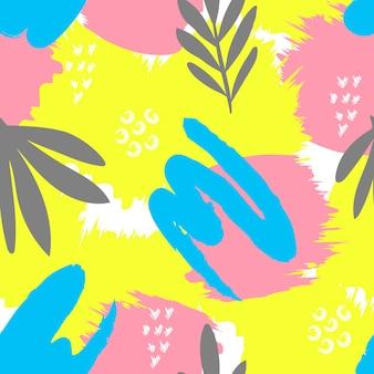 Naadloos artistiek kleurrijk patroon Premium Vector