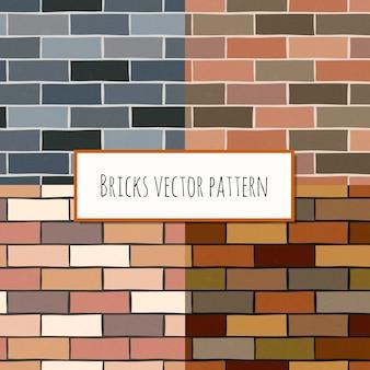 Naadloos bakstenen muur rechthoekig patroon