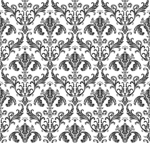 Naadloos barok vintage behang