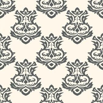 Naadloos behang in de stijl van barok. kan worden gebruikt voor achtergronden en pagina-opvulling webdesign