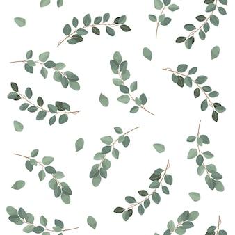 Naadloos bladerenpatroon.