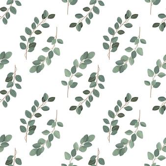 Naadloos bladerenpatroon