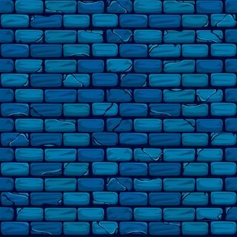 Naadloos blauw bakstenen muur achtergrondtextuurpatroon