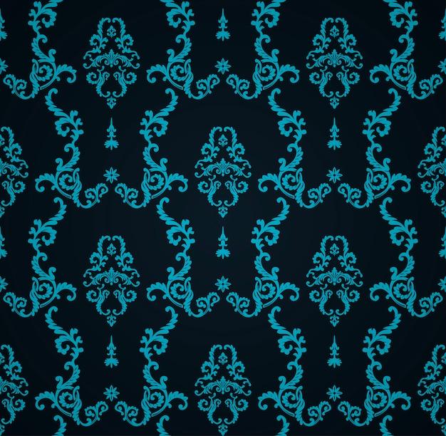 Naadloos blauw patroon met kunstachtergrond