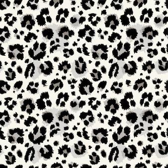 Naadloos blauw, turkoois luipaardpatroon