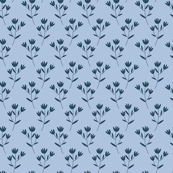 Naadloos bloemen botanisch patroon. plat takornament met minimalistische elementen.