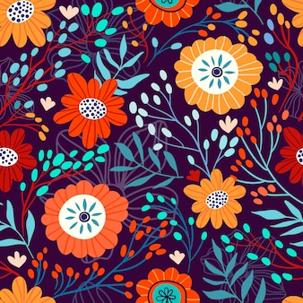 Naadloos bloemenpatroon met bloemen