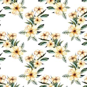Naadloos bloemenpatroon met boeketten van waterverf de roze bloemen