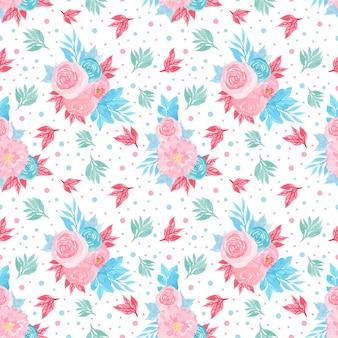 Naadloos bloemenpatroon met kleurrijke bloemen