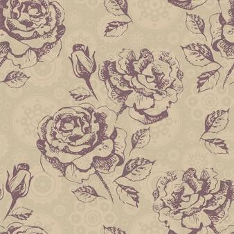Naadloos bloemenpatroon met rozen