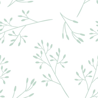 Naadloos bloemenpatroon met takjes. vector illustratie.