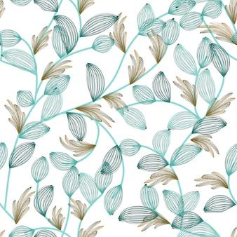 Naadloos bloemenpatroon textielontwerp