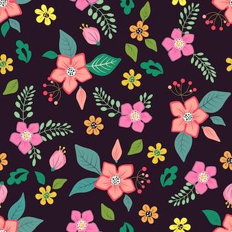 Naadloos bloemenpatroon.