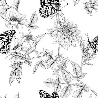 Naadloos bloemenpatroon