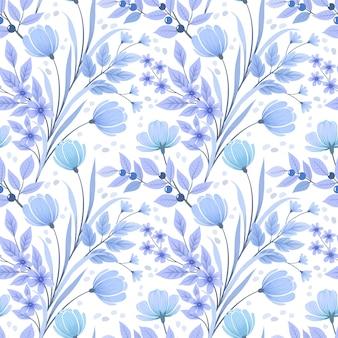 Naadloos bloemenpatroonbehang.
