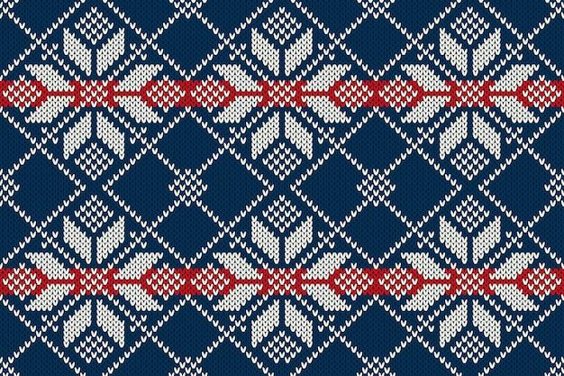 Naadloos breipatroon. winter vakantie trui ontwerp
