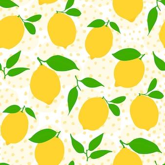 Naadloos citroenpatroon met punten