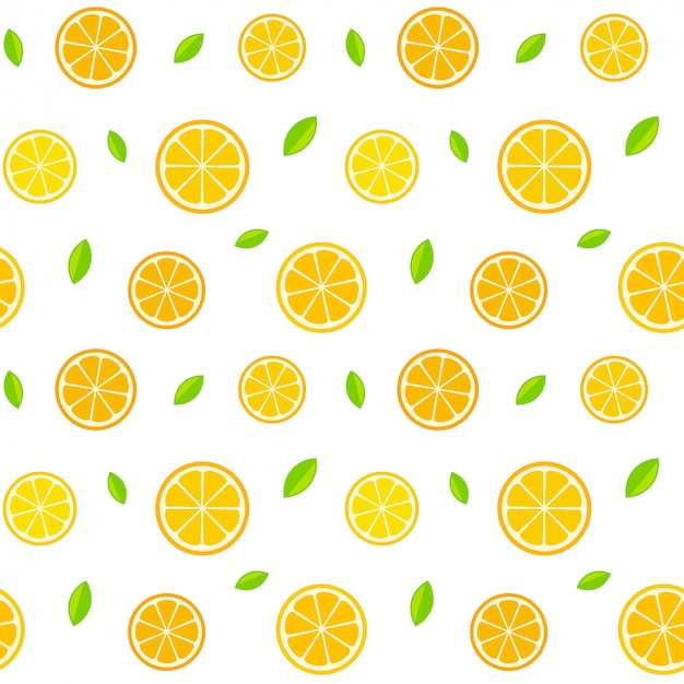 Naadloos citruspatroon