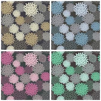Naadloos dahlia bloemenpatroon
