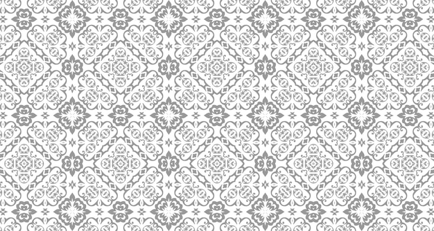 Naadloos damast koninklijk patroon