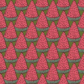 Naadloos doodlepatroon met watermeloen
