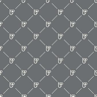 Naadloos duikerpatroon op een donkere achtergrond. duiker pictogram creatief ontwerp. kan worden gebruikt voor behang, webpagina-achtergrond, textiel, print ui/ux