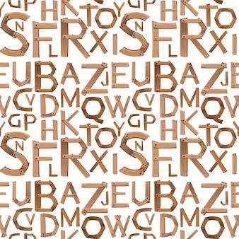Naadloos engels alfabetontwerp