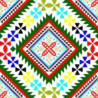 Naadloos etnisch en tribal patroon als vectorafbeelding