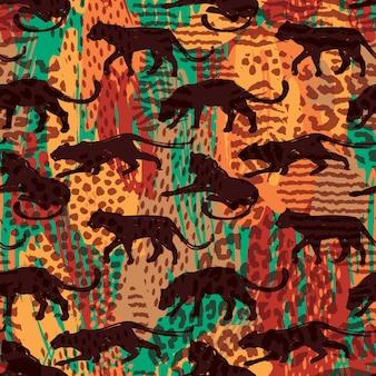 Naadloos exotisch patroon